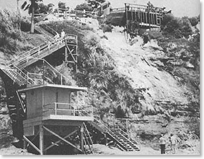Swami Beach Stairs Encinitas 1978.