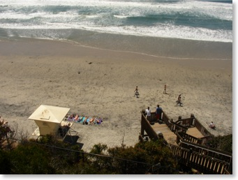 View from D Street Encinitas Beach Stairs