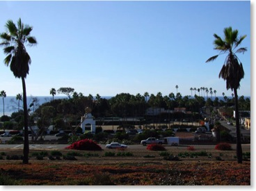 Photo Image Swamis Beach and Yogananda's Self Realization Fellowship Encinitas Ca.