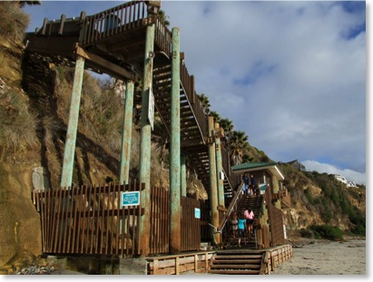 Swamis Beach Stairs Encinitas. Photo by Kyle Thomas, Encinitas Photographer.